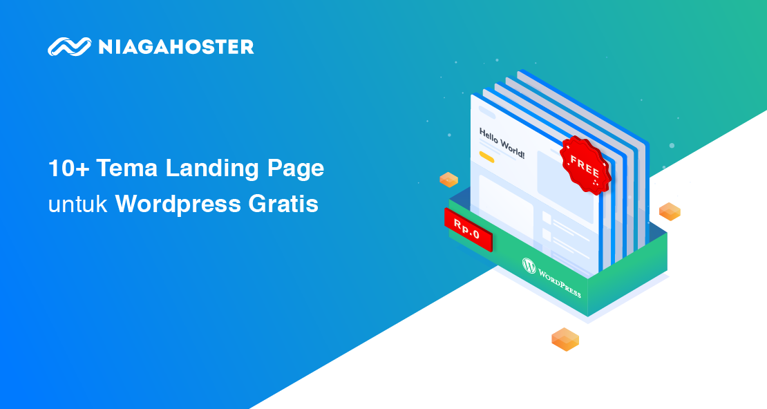 Landing Page Template WordPress Gratis