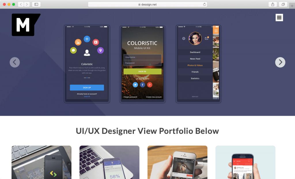 Mockup Template Web Portofolio