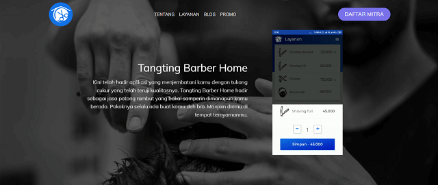 Inspirasi usaha tangting barber home