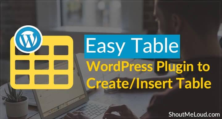 rekomendasi plugin table untuk wordpress