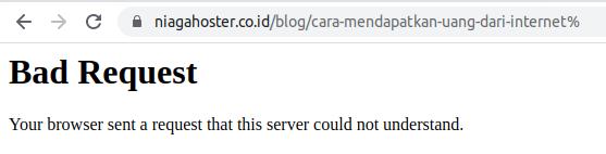 Contoh error 400 bad request URL tidak sesuai