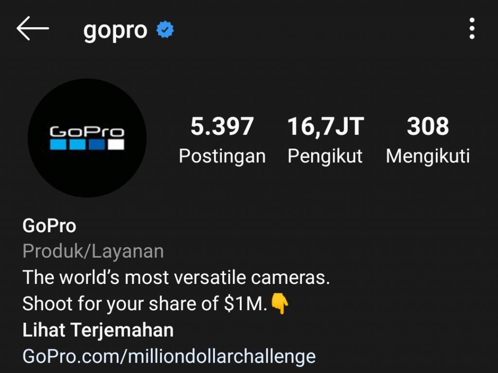 CTA pada GoPro