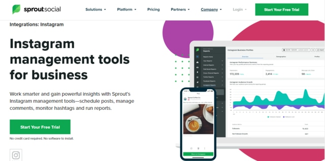 instagram tools analisis sprout social