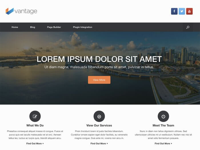 Template toko online WordPress Vantage