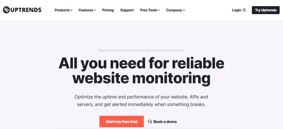 Uptrends termasuk tools website monitoring terbaik yang ada