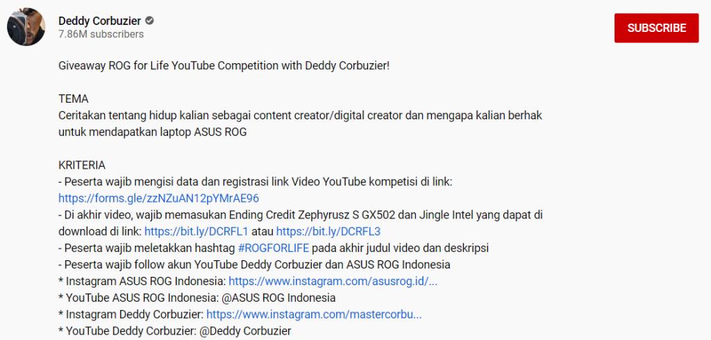 cara mempromosikan video youtube dengan giveaway
