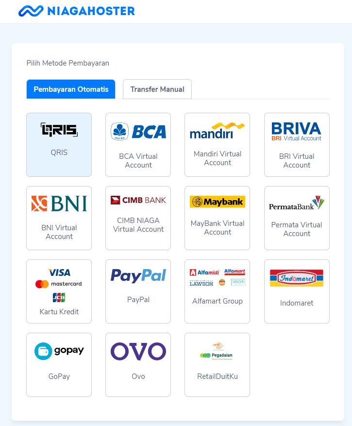 Menentukan jenis pembayaran yang sesuai