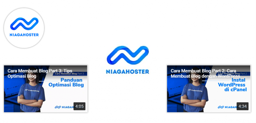 layar outro video di channel youtube niagahoster