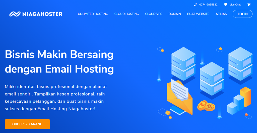 homepage email hosting niagahoster