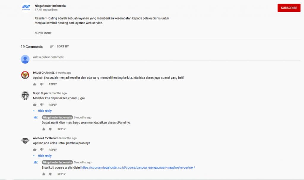 Cara Menanggapi Respon Audiens YouTube