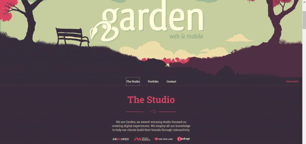 Contoh Parallax Website Garden Studio
