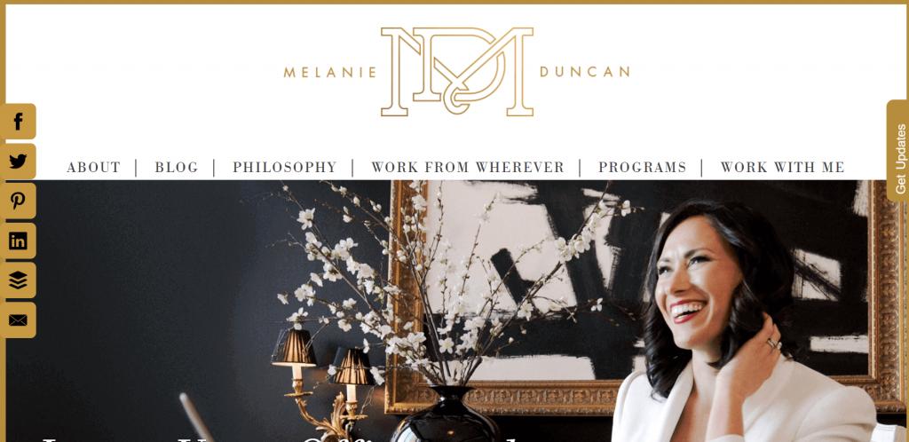 Website Layout Melanie Duncan