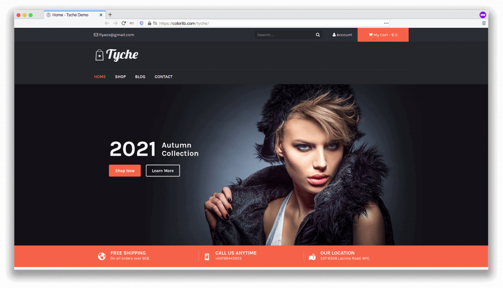 ecommerce template tyche