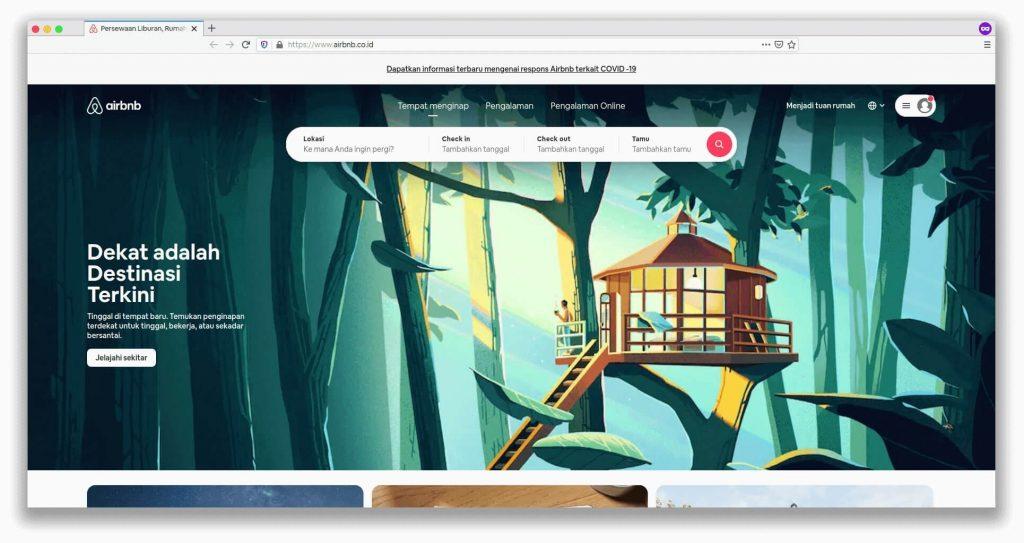 Airbnb melakukan rebrnading untuk mengikuti tren