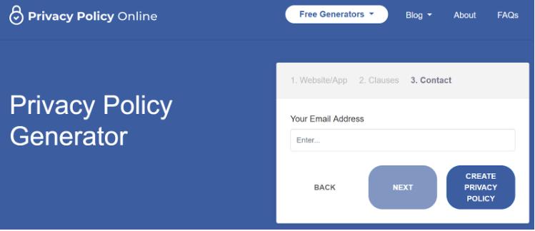 membuat privacy policy online dengan generator